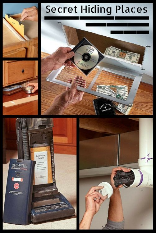20 secret hiding places - got some cash or valuables to hide? try one of these clever, simple ways to hide those items from all but the smartest, most determined crooks.