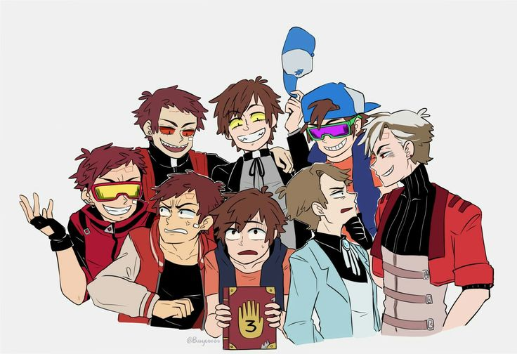 I KNOW ALL OF these au's except the one where dipper is blonde .