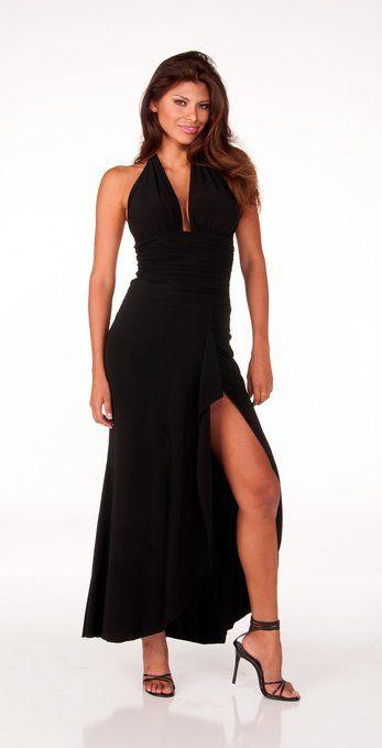 Sophisticated Long Halter Dress from Hot Fash Dresses - Empress Black