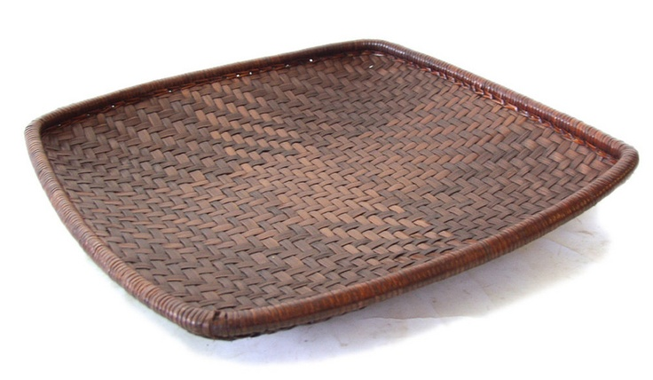 igorot basket | Square rattan and bamboo basket. Kalinga Igorot tribe, Philippines ...