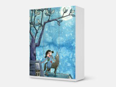 """#Designfolie """"Nocturnal Pleasure"""" von JunieMOND für deinen Pax Schrank"""