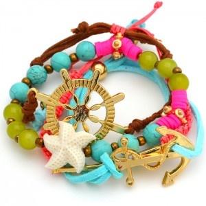 Pulsera Mar Multicolor Compra tus accesorios desde la comodidad de tu casa u oficina en www.dulceencanto.com #accesorios #accessories #aretes #earrings #collares #necklaces #pulseras #bracelets #bolsos #bags #bisuteria #jewelry #medellin #colombia #moda #fashion