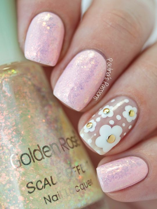 Simple Negative Space Nails by Paulina's Passions
