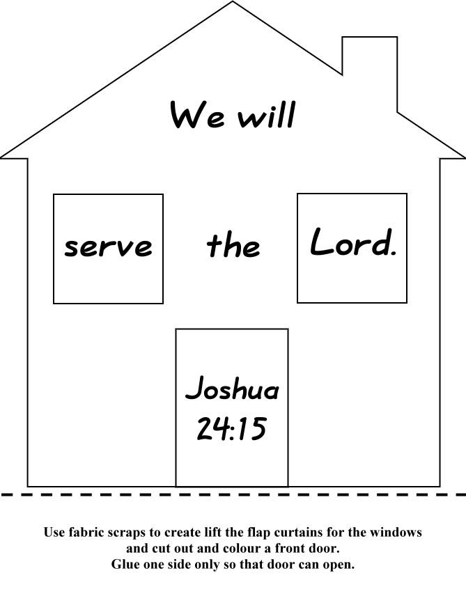 Joshua 24:15 -Kindergarten Memory Verse