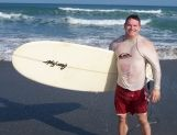 Paul after a session of surfing at Cocoa Beach, Florida near Patrick's Air Force Base. http://www.PaulFDavis.com/health-and-wellness-speaker serving public health, improving peak performance, personal and corporate wellness, preventing diseases and increasing the quality and longevity of life. (info@PaulFDavis.com)