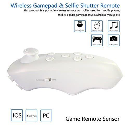 ÁpexTech VR (Realidad Virtual) Controlador portátil wireless Remoto Control Mini Gamepad - https://realidadvirtual360vr.com/producto/pextech-vr-controlador-porttil-inalmbrico-remoto-control-mini-gamepad-compatible-con-3d-vr-gafas-google-cartn-autofoto-del-obturador-de-la-cmara-reproductor-de-msica-iphone-ipad-tablet-pc-tv/ #RealidadVirtual #VirtualReaity #VR #360 #RealidadVirtualInmersiva