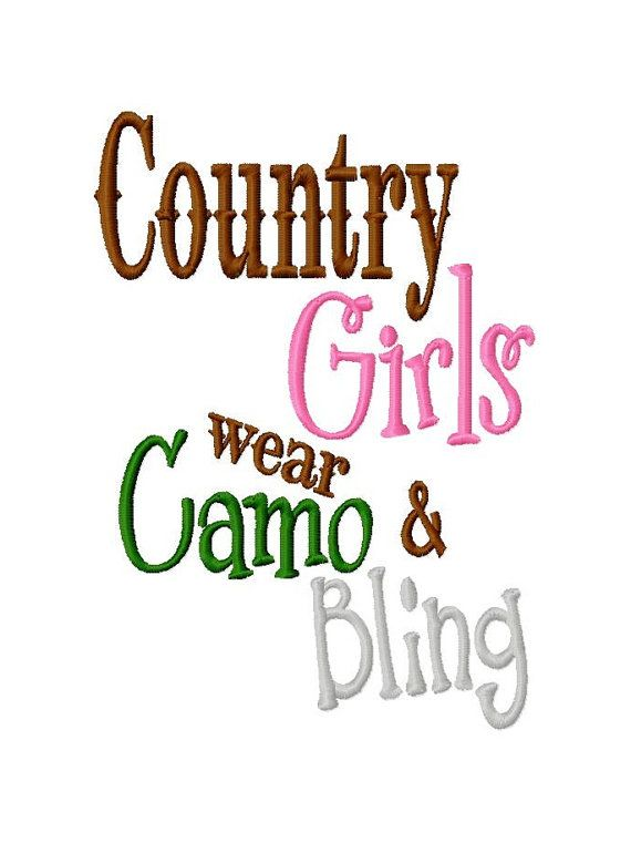 Country Girls wear Camo and Bling  Machine by LilliPadGifts, $4.50