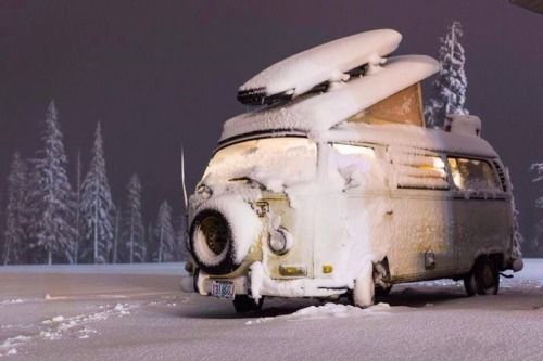 VW camper campervan kombi bus snow Volkswagen. CLICK the PICTURE or check out my BLOG for more: http://automobilevehiclequotes.tumblr.com/#1506292340