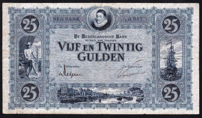 "Currently at the Catawiki auctions: The Netherlands - Banknote 25 Guilders 1927 ""Willem van Oranje"" [William of Orange]"