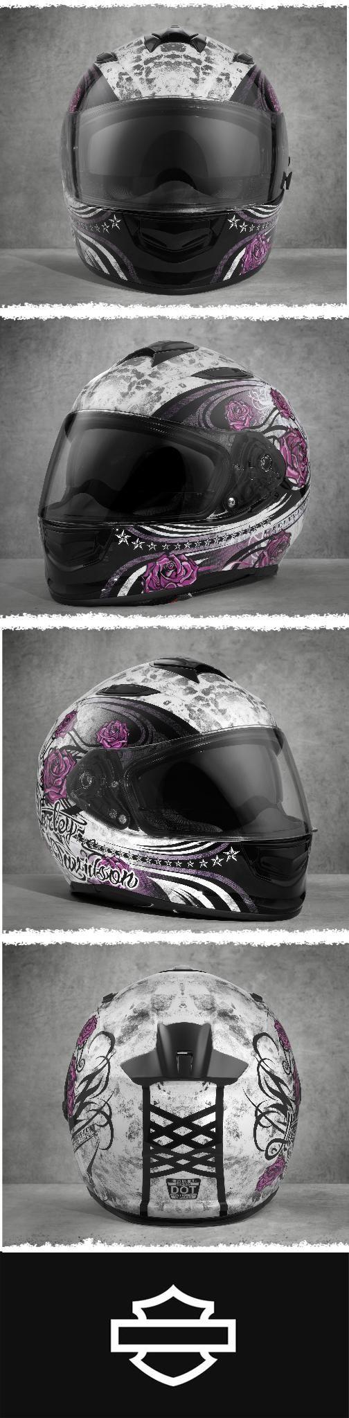 Considering a full-face helmet? Look no more.   Harley-Davidson Landscape Airfit Sun Shield X03 Full-Face Helmet