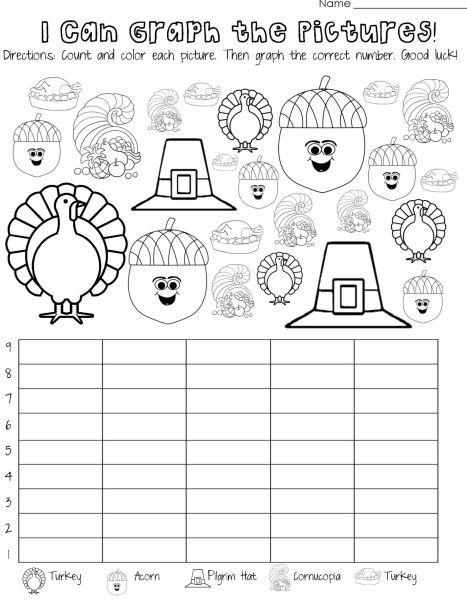 Thanksgiving Day Graph Worksheet Worksheets For Kids