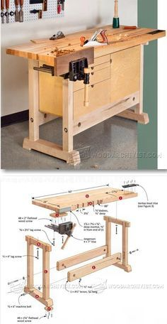 Compact Workbench Plans - Woodworking Plans and Projects | http://WoodArchivist.com