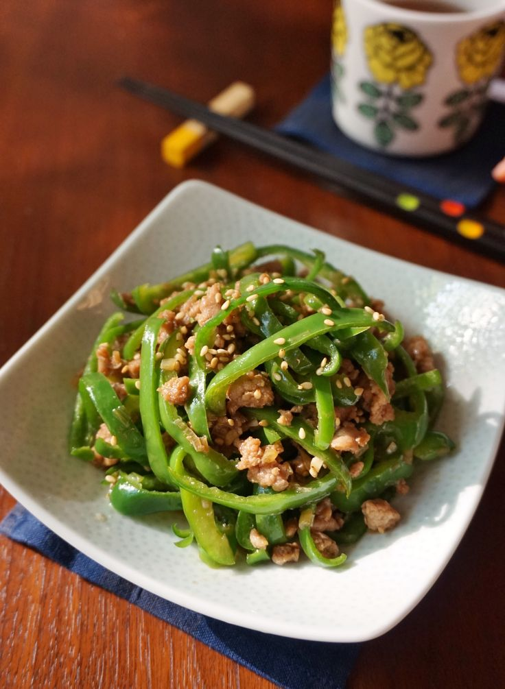 ピーマンの豚そぼろ炒め by 楠みどり | レシピサイト「Nadia | ナディア」プロの料理を無料で検索