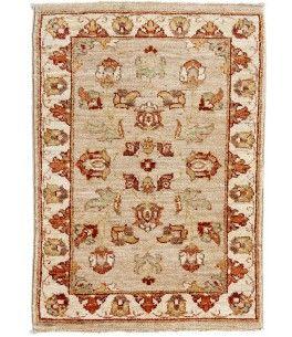 Ziegler Teppich  Dieser schöne Ziegler Teppich 00010197 stammt aus Pakistan und hat die Farbe Braun. Der Teppich ist aus hochwertigem Material Handgesponnene Wolle gefertigt und ist 60x92 cm groß, was einer Fläche von 0.55 m² entspricht. Dieser Ziegler Teppich besticht durch eine aufwendige Fertigung und einer Florhöhe von ca. 8 mm.   Verarbeitung: Handgeknüpft