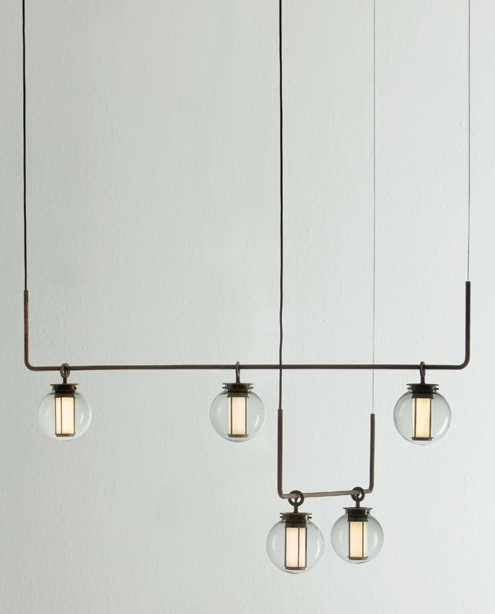New from Neri&Hu for Parachilna: the Bai Chandelier combination. A modern Chinese lantern made of blown glass and powered by LED technology
