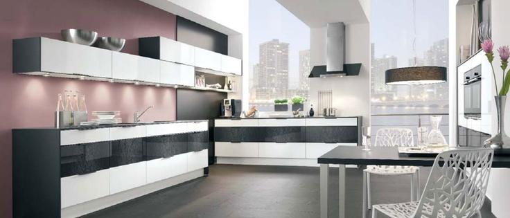 Attraktiv Küchen/Küchenfronten In Schwarz/weiß