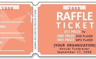 Raffle Ticket Templates 14