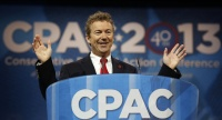 Libertarian Sen. Rand Paul stole the show from under Sen. Marco Rubio's nose at the opening session of the Conservative Political Action Conference.