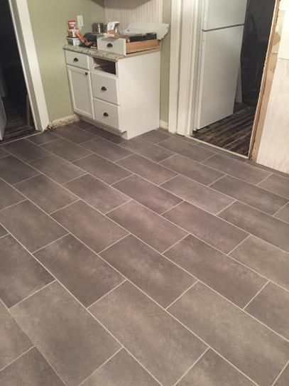 Trafficmaster Ceramica 12 In X 24 Coastal Grey Resilient Vinyl Tile Flooring