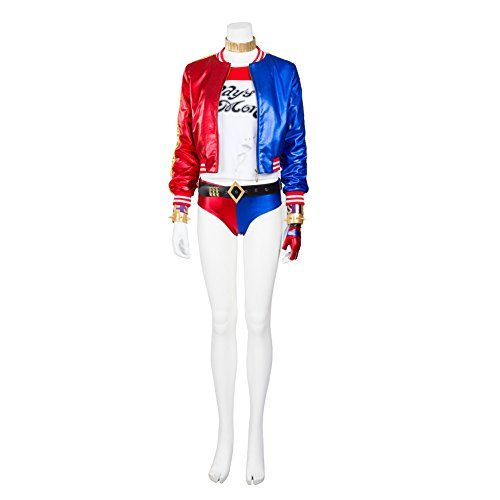 Introducing MagicCosplay Womens Suicide Squad Harley Quinn Joker Halloween Cosplay Costume L. Get Your Ladies Products Here and follow us for more updates!