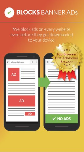 Free Adblocker Browser v54.0.2016122983   Free Adblocker Browser v54.0.2016122983Requirements:4.4Overview:This Android Browser with Adblock enables you to have an ad free web experience in order to see more of the content that really matters to you.  The adblock enabled browser blocks ads banners ad-videos and popups. It can prevent advertisers from tracking your behavior and saves battery as well as data volume with the integrated adblocker. These features make the Free Adblocker Browser…