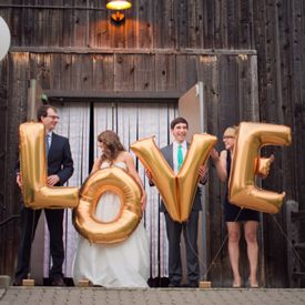 A stunning pink and gold wedding with a fabulous dessert table and loads of balloons!