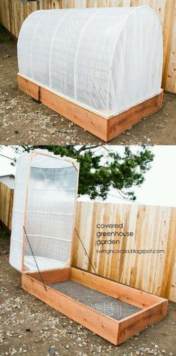 Raised, covered garden/greenhouse