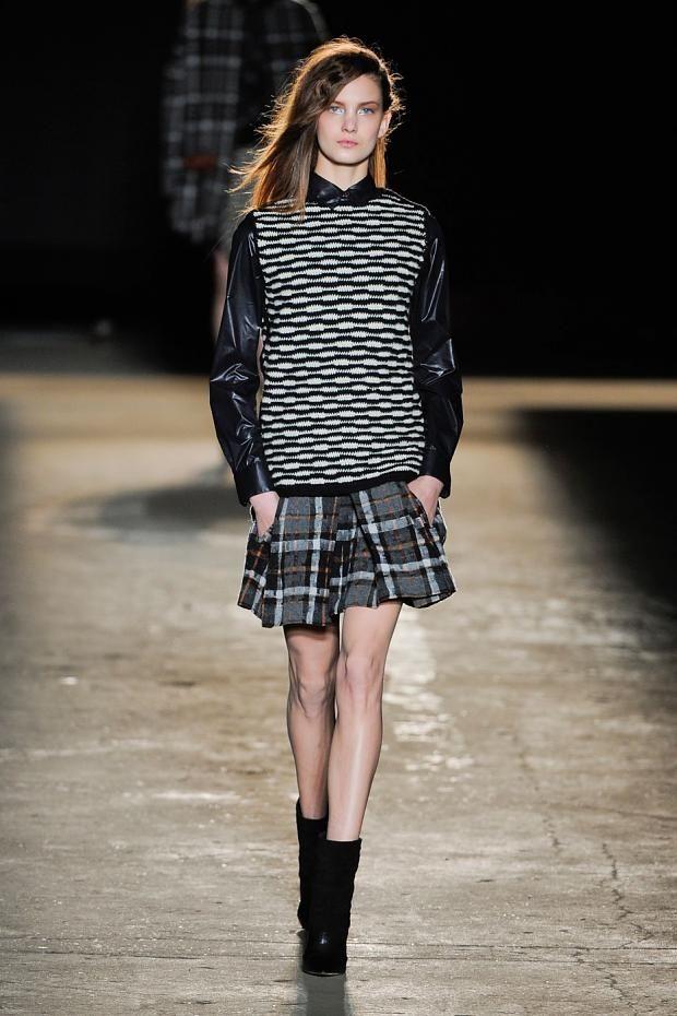Runway inspiration for schoolgirl fashion for fall 2012.