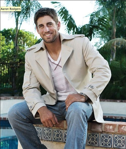 Aaron Rodgers-best and most attractive quarterback in the league. GO PACK.
