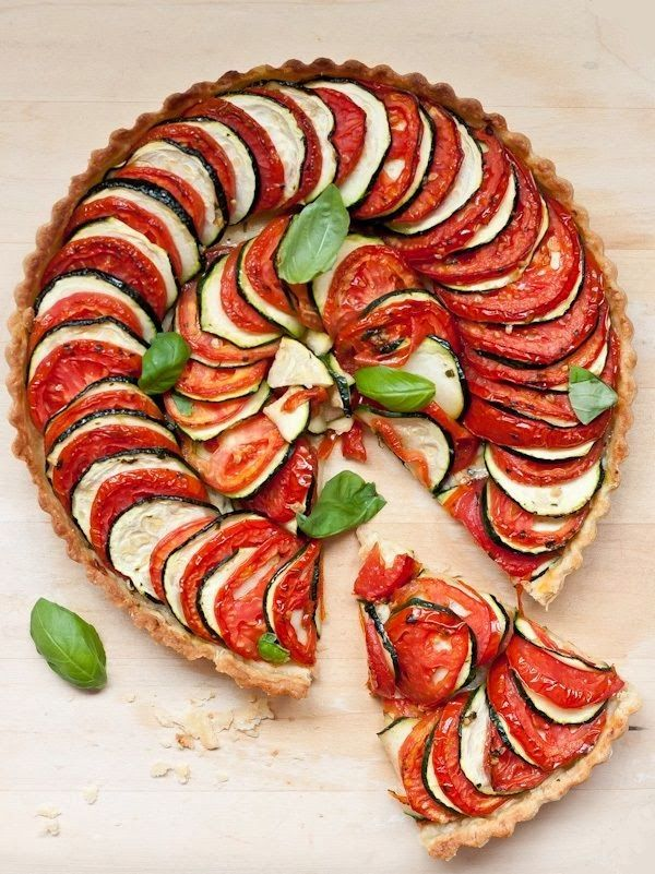 Agnese Italian Recipes: Tomato Zucchini Tart : Original Recipe - http://agneseitalianrecipes.blogspot.it/