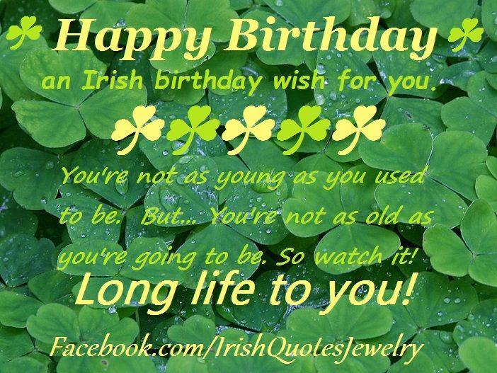 An Irish Birthday Wish...