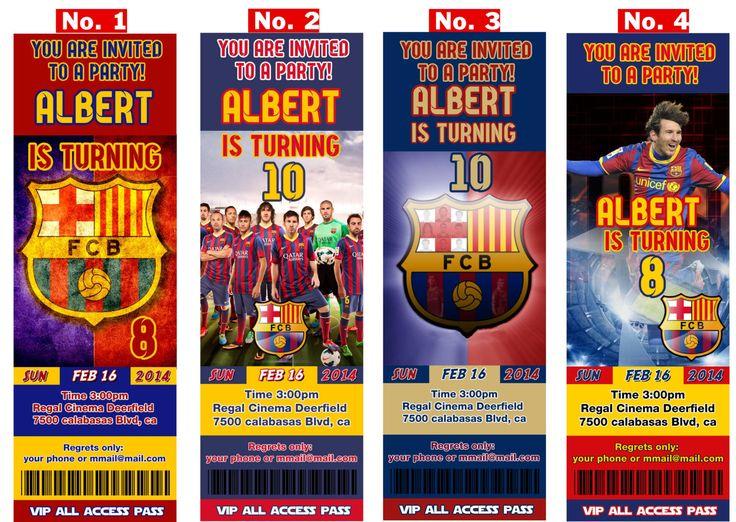 FC Barcelona or Messi birthday Invitation soccer by StylishShapes