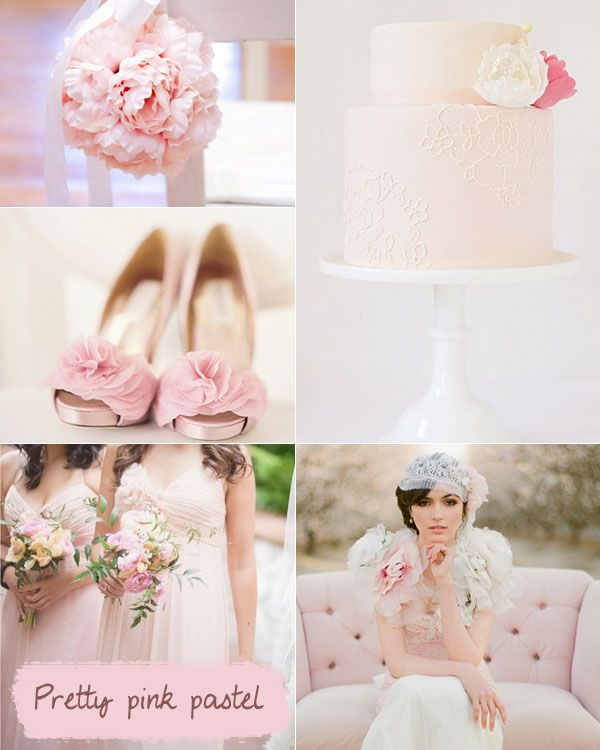 Spring Wedding Colour Palette,Pink Pastel wedding colours palette