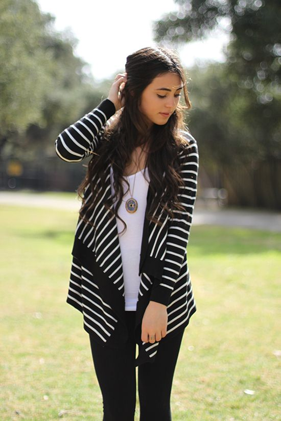 Striped oped cardigan just for $24.00 This Striped Open Cardigan is great for every layering occasion. Shop now @ http://www.caralase.com/striped-oped-cardigan/