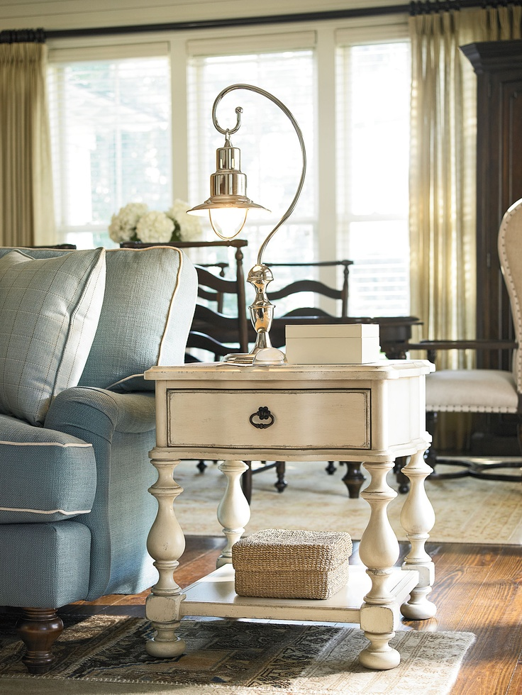 River House Collection  End Table With A River Boat Finish · Furniture  OutletOnline FurniturePaula DeenRiver ...