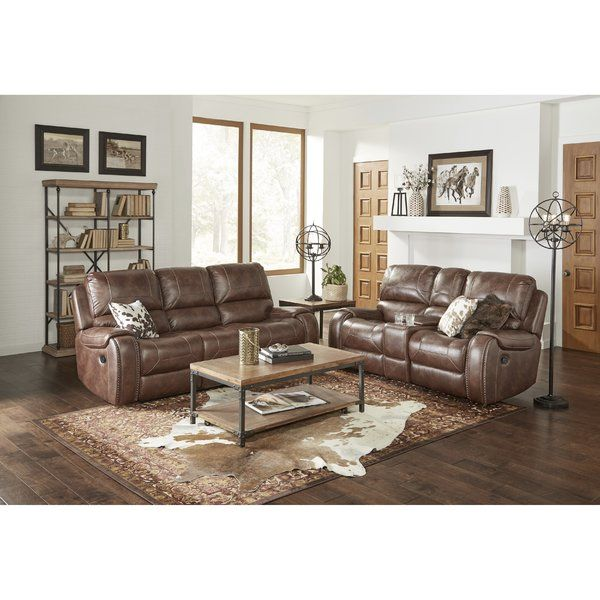 Stampley Leather Air Manual Reclining Living Room Set Living Room Sets Living Room Sets Furniture Spacious Sofa #reclining #3 #piece #living #room #set