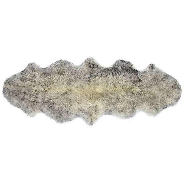Sheepskin Rug Gradient Gray Area Rugs ($189) ❤ liked on Polyvore featuring home, rugs, gradient gray, gray plush rug, textured rug, grey rug, plush rugs and grey sheepskin rug