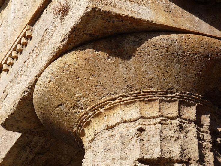 Doric column capital of Temple of Hera