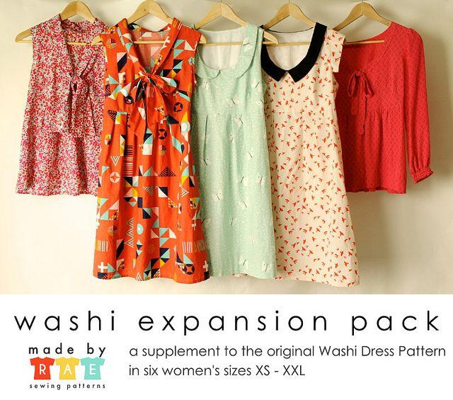 Washi Dress EXPANSION PACK by madebyrae, via Flickr