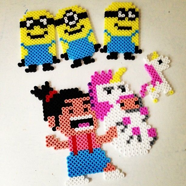 Despicable Me Minions Agnes And The Pink Unicorn Hama
