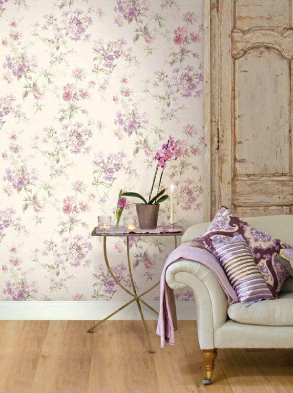 Florale Tapeten - Naturnahes und zeitgenössisches Ambiente erschaffen - http://freshideen.com/dekoration/florale-tapeten.html
