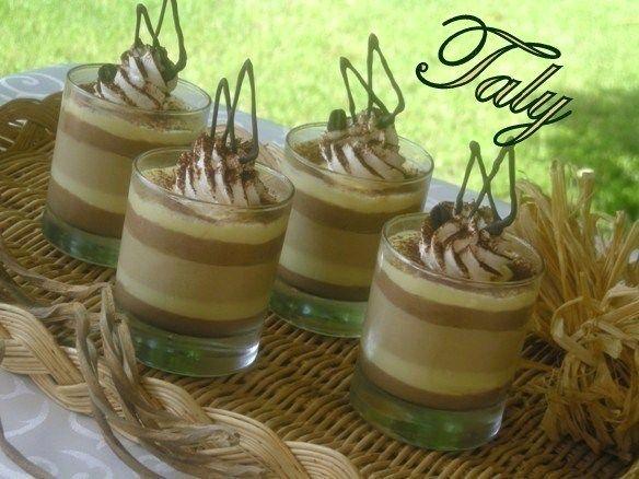 BICCHIERI di Soffici creme Tre gusti per questi bicchierini #vaniglia #cioccolato e #caffè