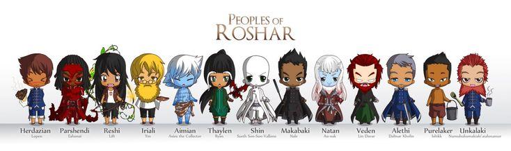 Some SA mini figures created by the Chibi Maker    Peoples of Roshar (Full resolution [x])  Herdazian - Lopen (eating Chouta)  Parshendi / Parshman - Eshonai (W...