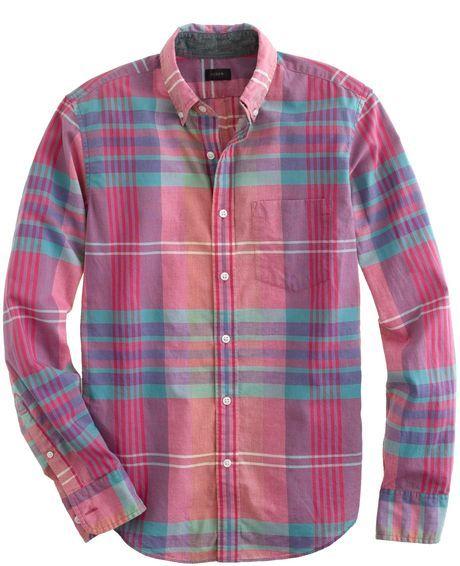 J Crew madras shirt