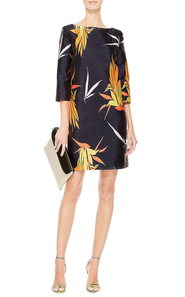 Birds Of Paradise Print Shift Dress by Marni Now Available on Moda Operandi