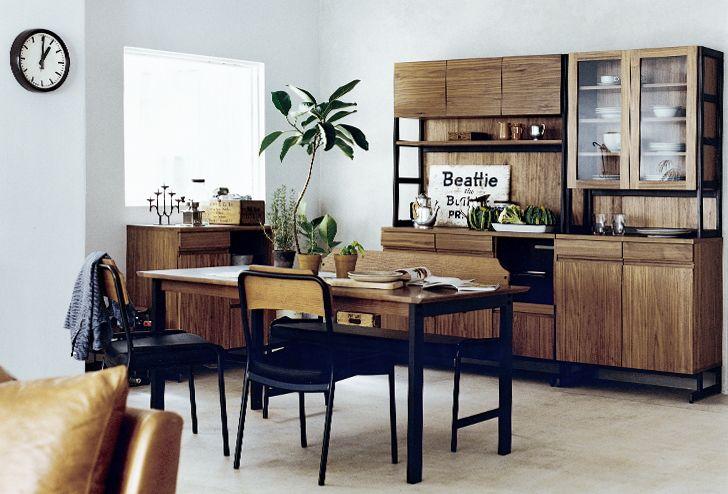 HOXTON(ホクストン) ダイニングテーブル W1400 ウォールナット | ≪unico≫オンラインショップ:家具/インテリア/ソファ/ラグ等の販売。