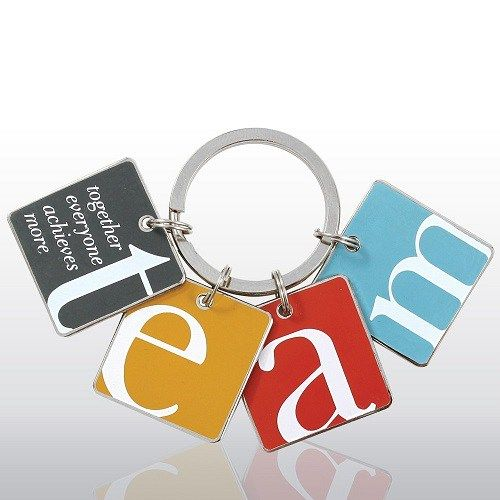 Team Key Chain. Motivational gifts for staff on Employee Appreciation Day.