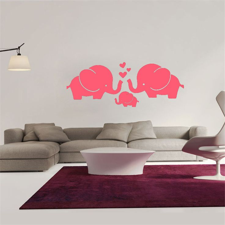 PVC Wall Stickers Cartoon Decals DIY Children Sticker Elephant Wall Sticker Home Decor Poster Kids Rooms Wall Decoration BA <3 Details on product can be viewed by clicking the VISIT button
