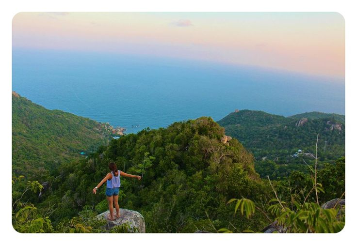 Feeling free in the arms of the wind in Koh Tao, Thailand