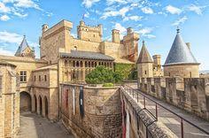 Los 15 castillos más bonitos de España: en la foto, Olite, Navarra.